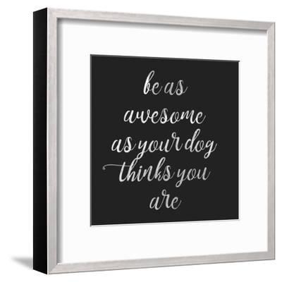 Be Amazing Dog 2-Jelena Matic-Framed Art Print