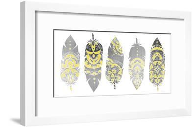 Feathered Tribal-Kimberly Allen-Framed Art Print
