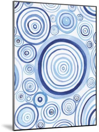 Mesmerized Blues 1-Pam Varacek-Mounted Art Print