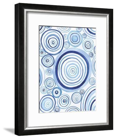 Mesmerized Blues 1-Pam Varacek-Framed Art Print