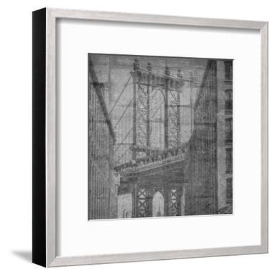 Manhattan Wall-Sheldon Lewis-Framed Art Print