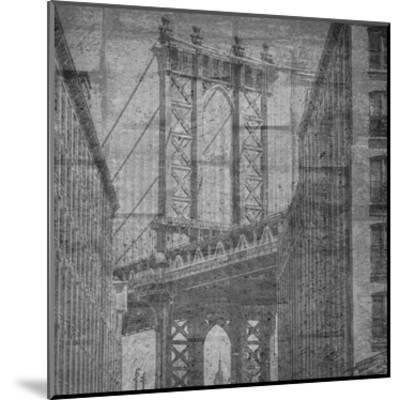 Manhattan Wall-Sheldon Lewis-Mounted Art Print