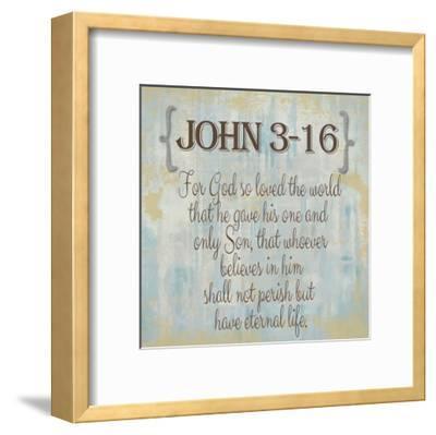 John 3-16-Taylor Greene-Framed Art Print