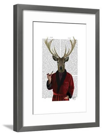 Deer in Smoking Jacket-Fab Funky-Framed Poster