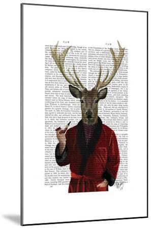 Deer in Smoking Jacket-Fab Funky-Mounted Poster