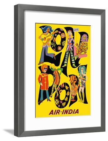 London England - Air India - The Beatles with Maharaja-Unknown-Framed Art Print