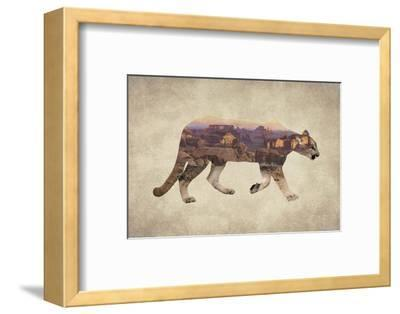 Arizona Mountain Lion-Color Me Happy-Framed Art Print