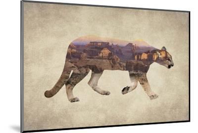 Arizona Mountain Lion-Color Me Happy-Mounted Art Print