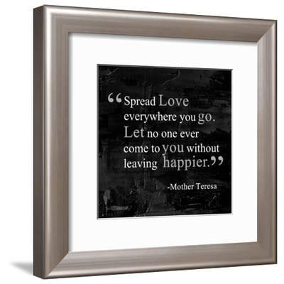 Spread Love-Quote Master-Framed Art Print