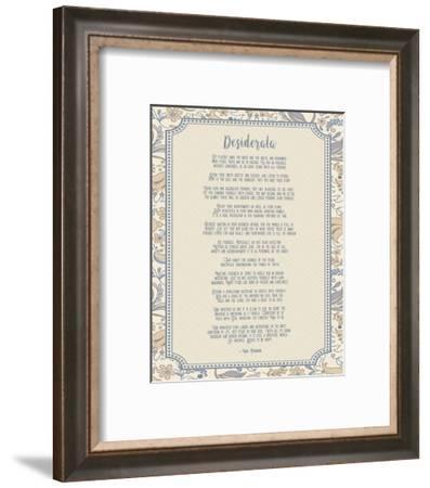Desiderata Floral Frame Beige-Quote Master-Framed Art Print