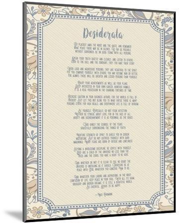 Desiderata Floral Frame Beige-Quote Master-Mounted Art Print