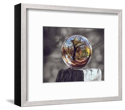 Pop of Color Glass Sphere-Color Me Happy-Framed Art Print