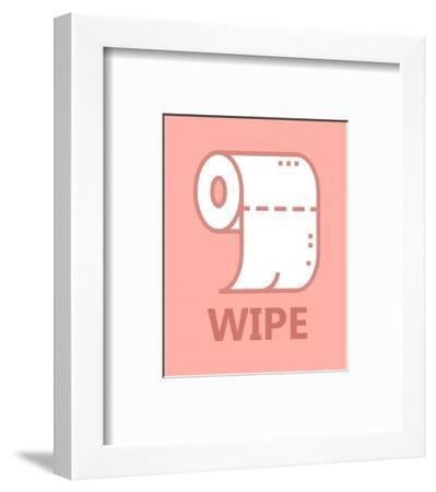 Girl's Bathroom Task-Wipe-Color Me Happy-Framed Art Print
