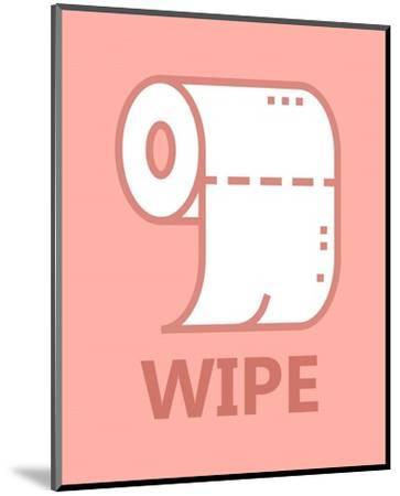 Girl's Bathroom Task-Wipe-Color Me Happy-Mounted Art Print