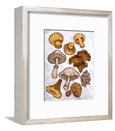 Mushroom Variation-Color Me Happy-Framed Art Print