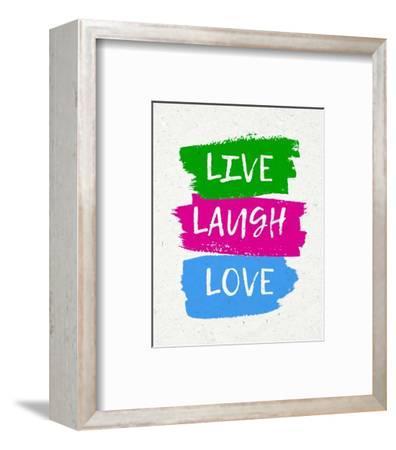 Live Laugh Love-Bold-Color Me Happy-Framed Art Print