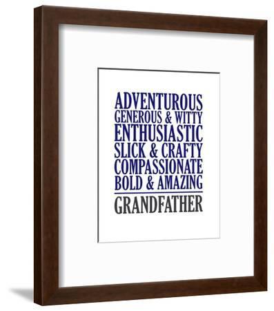 Adjectives for Grandpa-Color Me Happy-Framed Art Print