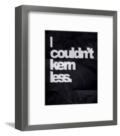 Couldn't Kern Less-Color Me Happy-Framed Art Print
