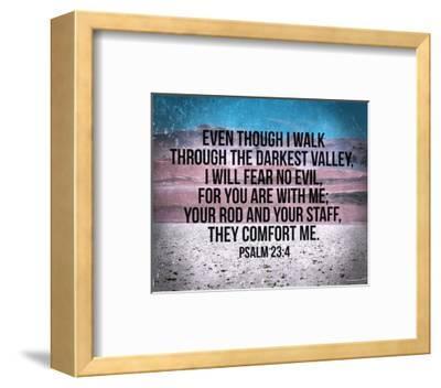 Psalm 23:4-Inspire Me-Framed Art Print