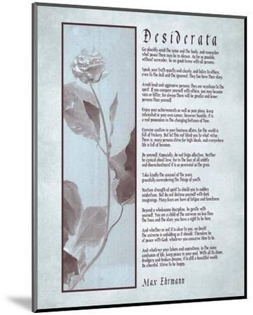 Desiderata Brown Daguerreotype-Quote Master-Mounted Art Print