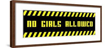 No Girls Allowed - Black Panoramic-Color Me Happy-Framed Art Print
