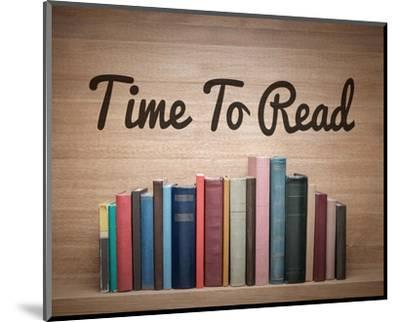 Time To Read - Wood Background Color-Color Me Happy-Mounted Art Print