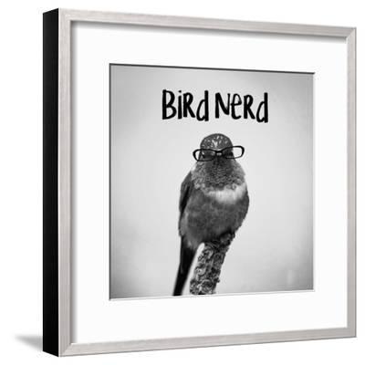 Bird Nerd - Hummingbird-Color Me Happy-Framed Art Print