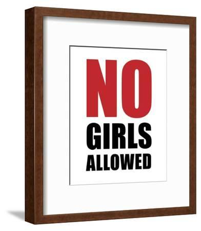 No Girls Allowed - White-Color Me Happy-Framed Art Print