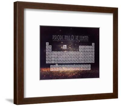 Periodic Table Gold Dust - Purple-Color Me Happy-Framed Art Print
