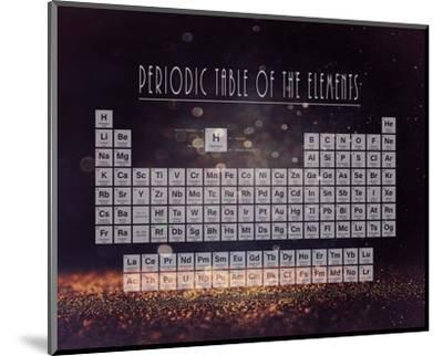 Periodic Table Gold Dust - Purple-Color Me Happy-Mounted Art Print