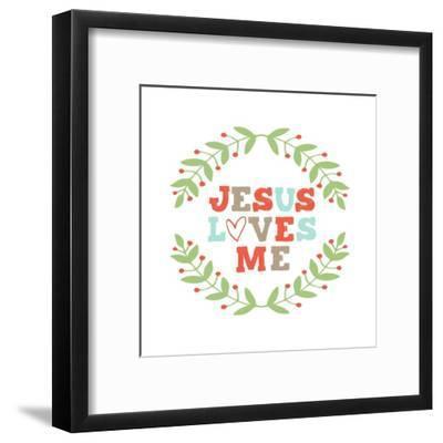 Jesus Loves Me-Garland-Inspire Me-Framed Art Print