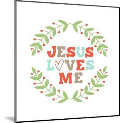 Jesus Loves Me-Garland-Inspire Me-Mounted Art Print