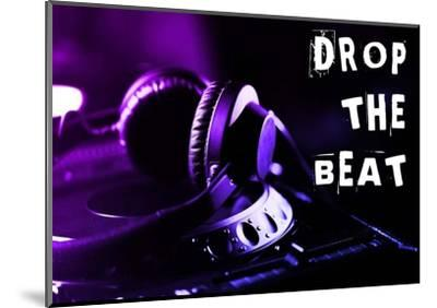 Drop The Beat - Purple and Blue-Color Me Happy-Mounted Art Print