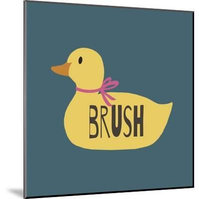 Duck Family Girl Brush-Color Me Happy-Mounted Art Print