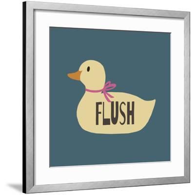Duck Family Girl Flush-Color Me Happy-Framed Art Print