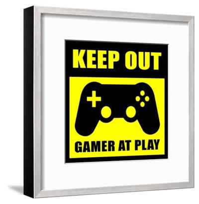 Keep Out Gamers At Play-Color Me Happy-Framed Art Print