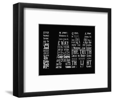 Names of Jesus I AM Silhouette Black-Inspire Me-Framed Art Print