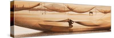 Vietnamese Fishing-Nhiem Hoang The-Stretched Canvas Print