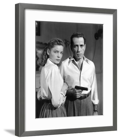 Lauren Bacall and Humphrey Bogart in 'Key Largo' 1948-Hollywood Historic Photos-Framed Art Print