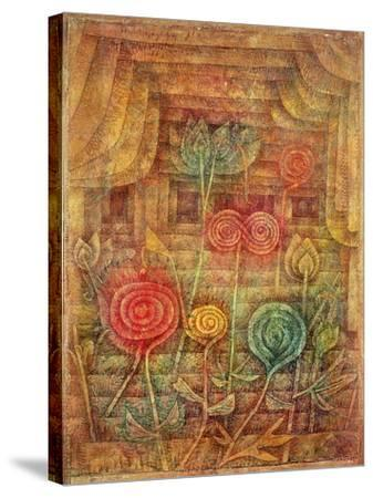 Spiral Flowers-Paul Klee-Stretched Canvas Print