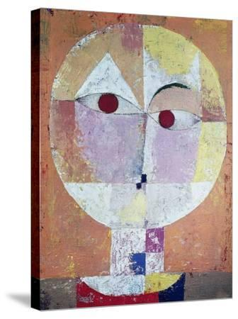 Senecio (detail)-Paul Klee-Stretched Canvas Print