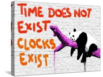 Time does not exist-Masterfunk collective-Stretched Canvas Print