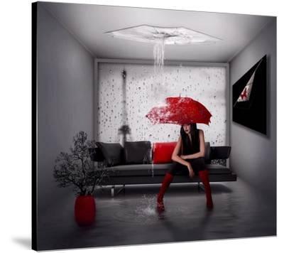 Rain In Paris-Natalia Simongulashvili-Stretched Canvas Print