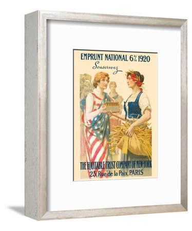 National Loan 1920 - Subscribe (Souscrivez) - The Equitable Trust Company of New York, Paris-Guillaume Seignac-Framed Art Print