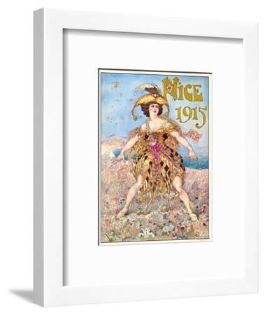 Nice Carnival 1915-Gustav-Adolf Mossa-Framed Art Print