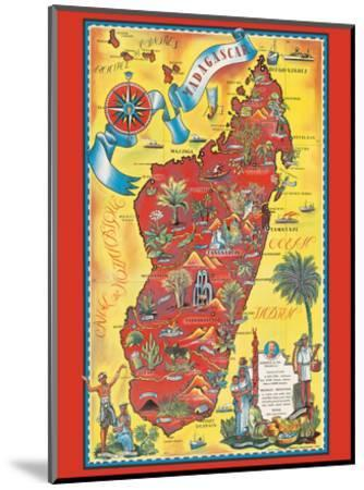 Madagascar - Map - Africa Island-Maurice Tranchant-Mounted Art Print