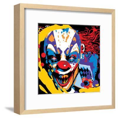 Clown-Ray Lengel?-Framed Art Print