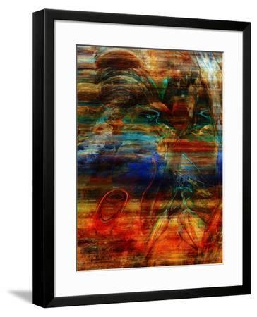 Rainbow Abstract-Jean-Fran?ois Dupuis-Framed Art Print