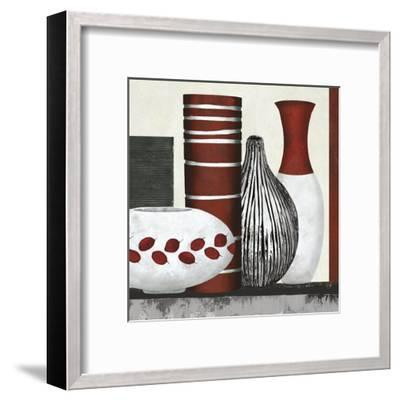 Collection Rouge - Set-Linda Wood-Framed Giclee Print