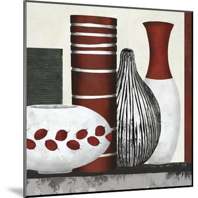 Collection Rouge - Set-Linda Wood-Mounted Giclee Print